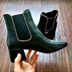 COACH⚡️Auth Leather Chunky Heels Booties_6B/6.5